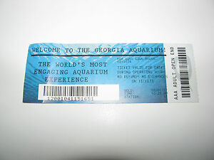 Ticket Stub 10 01 2007 Vtg Old Atlanta Ga Usa Georgia