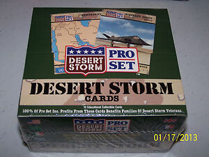 Pro Set Desert Storm Cards Factory Sealed Box 36 Packs/ 10 Cards