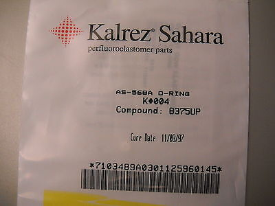 Kalrez  Sahara Oring  As 568A O Ring  K  004  Compound  8375Up  Dupont Dow