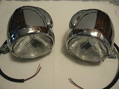 ELECTROLINE 2200 HEADLIGHTS 1920'S 1930'S FORD CHEV MOPAR RAT/HOT ROD SCTA RARE