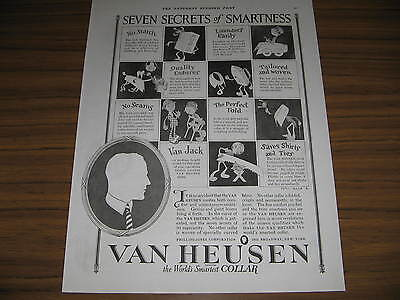 1923 Vintage Ad Van Heusen Shirt Collars Seven Secrets Phillips Jones Corp