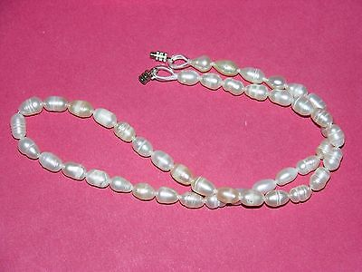 10 genuine cultured pearl necklaces wholesale lot white
