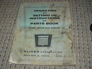 Oliver-White-Tractor-Power-Angled-Disc-Harrow-Operators-Manual