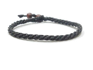 FAIR TRADE Thai Buddhist Thin Round WAXED COTTON Weave WRISTBAND Bracelet