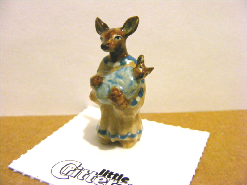 "Little Critterz ""Sacagawea"" The Deer,  Mini Animal Figurine, American History"