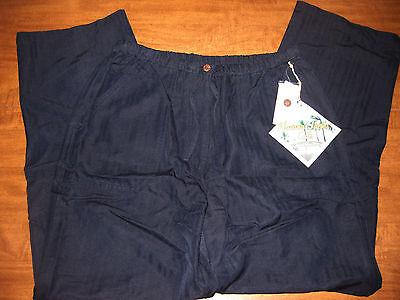 Havana Jack Cafe Medium Pants Rayon Elastic-band Tropical Polyester