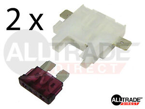 2-x-INLINE-STANDARD-BLADE-FUSE-HOLDER-UP-TO-30-AMPS-ATO-WHITE-SIDE-CONNECTORS