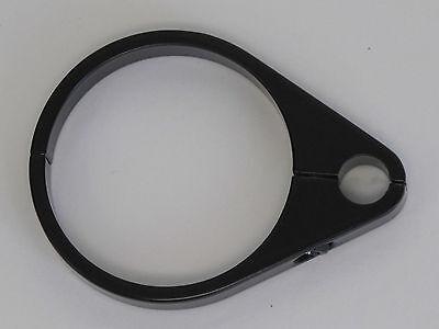 Black 2 Billet Cable Clamp For Harley & Custom Frames