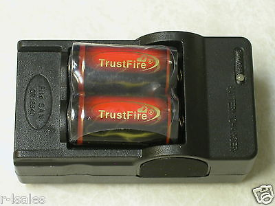 Trust Fire 4 X Trustfire 18350 Rechargeable Battery + 1 C...
