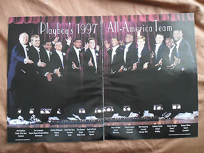 1997 Magazine Photo Page Tim Duncan Wake Forest Basketball All American Team