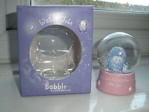 Collectable-Water-Snow-Globe-Bobble-The-Little-Blue-Owl-Carte-Blanche-NEW-IN-BOX