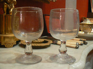 2 anciens gros verres a vin epoque 18 eme souffl ballon ebay. Black Bedroom Furniture Sets. Home Design Ideas