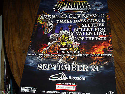 avenged sevenfold/seether concert poster  on Rummage