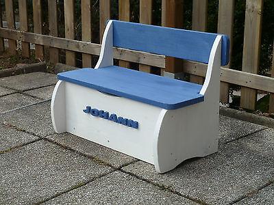Kindersitzbank  Sitzbank Kindermöbel Holzbank  - Auf Wunsch mit Namen - NEU