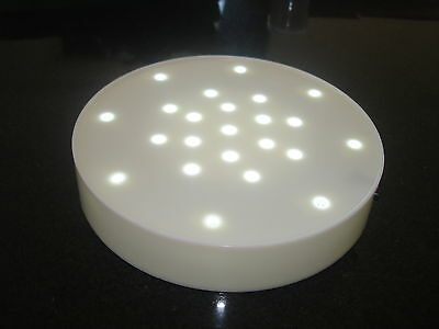 7 Led Light Bases 23 Bright White Lights Wedding Table Centrepiece Free P&p