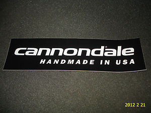 1-AUTHENTIC-CANNONDALE-BICYCLES-HANDMADE-IN-USA-STICKER-DECAL-AUFKLEBER
