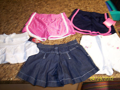 Girl's Size 4t Shorts Lot -5 Pairs In Lot-