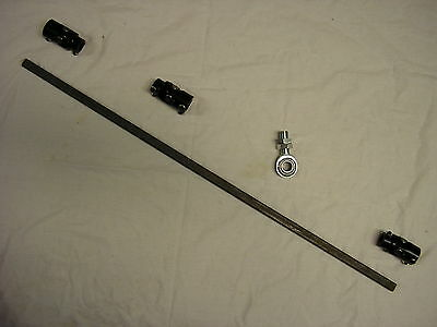 Vega Box 3 Black U Joint Steering Shaft Support Kit Street Rod