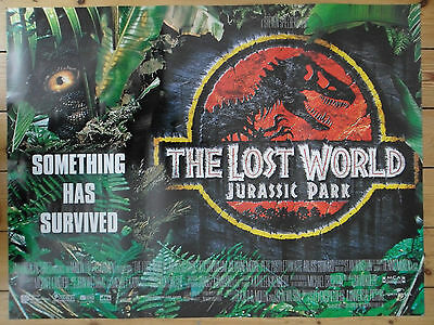 THE LOST WORLD JURASSIC PARK 2 / II - MINT - Original D/S UK Quad Cinema Poster