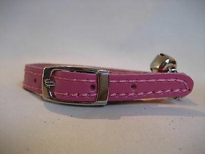 LEATHER HOT PINK CAT COLLAR