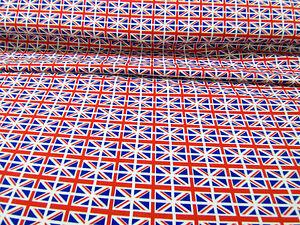 UNION JACK FLAGS 100% COTTON FABRIC   112cm Wide