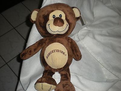 Hersheypark Hershey Park Plush Brown Tan Bear Round Lovey 15 Logo Toy Plush