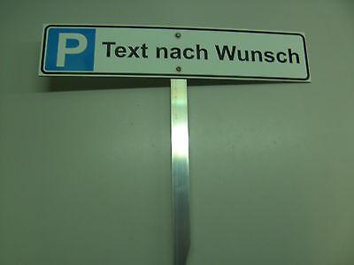 Parkplatz-Schild 520x110mm Kfz.-Schild Nummernschild mit Erdstab
