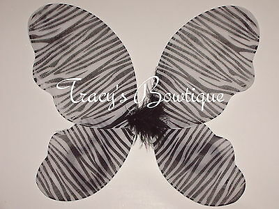 Zebra Girl Butterfly Fairy Angel Wings Dress Up Costumes Halloween Party Favors
