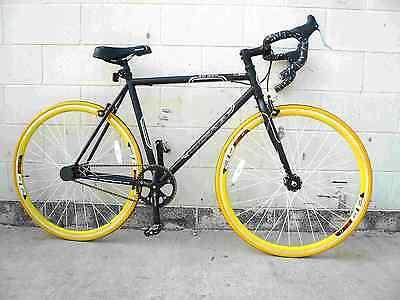 Fixie Fixed Gear Flip/Flop Hub Steel Bike Bicycle 53cm Drop Bar Matt Black
