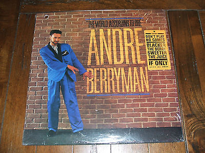 Andre Berryman - The World According To Dre 1988 Sealed R&b Lp Mint M-