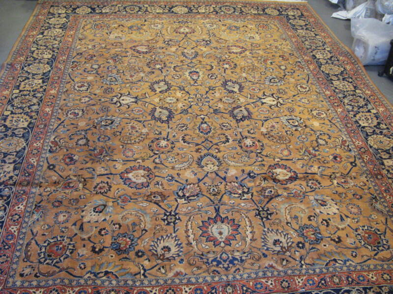 Semi Antique Khorassan Persian Rug Hand Knotted Wool 9