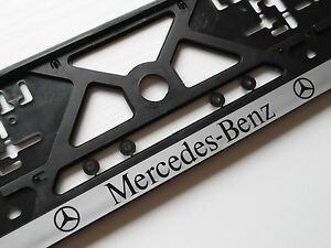 Mercedes Benz Number Plate Frame Holder Surround Screws
