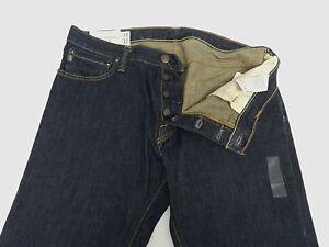 Abercrombie-Fitch-Mens-Sz-34x32-32x34-Remsen-Low-Rise-Slim-Straight-Jeans