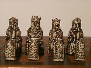 ISLE OF LEWIS CHESS SET - PROFESSIONAL QUALITY LARGE FULL SIZE PIECES.