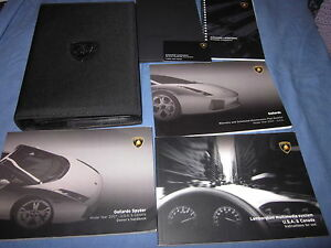 2007-LAMBORGHINI-GALLARDO-SPYDER-OWNERS-MANUAL-OWNERS-SET-W-NAVIGATION