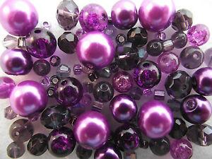 Glass-Bead-Mix-Bracelet-Making-Kit-Purple-Sugar-Plum