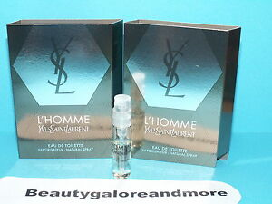 2  L'HOMME YVES SAINT LAURENT YSL MEN  SAMPLE PERFUME COLOGNE