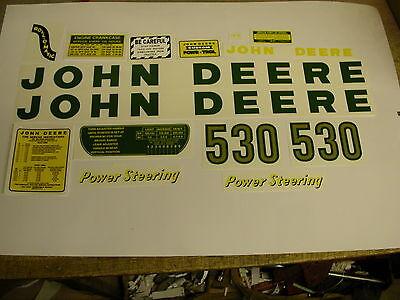 John Deere Model 530 Tractor Decal Set - - Free Shipping
