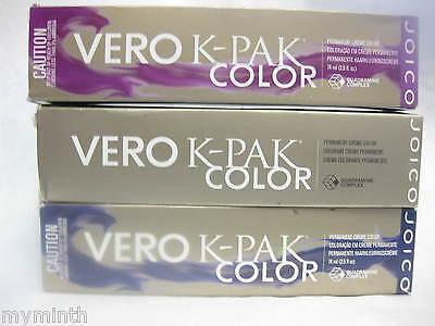 Joico VERO K - PAK COLOR Permanent Hair Color N - SERIES  2.5 oz NIB (Blue Box)