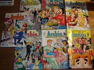 ARCHIE 600 - 606; 1st print marries Veronica Betty wedding proposal jughead