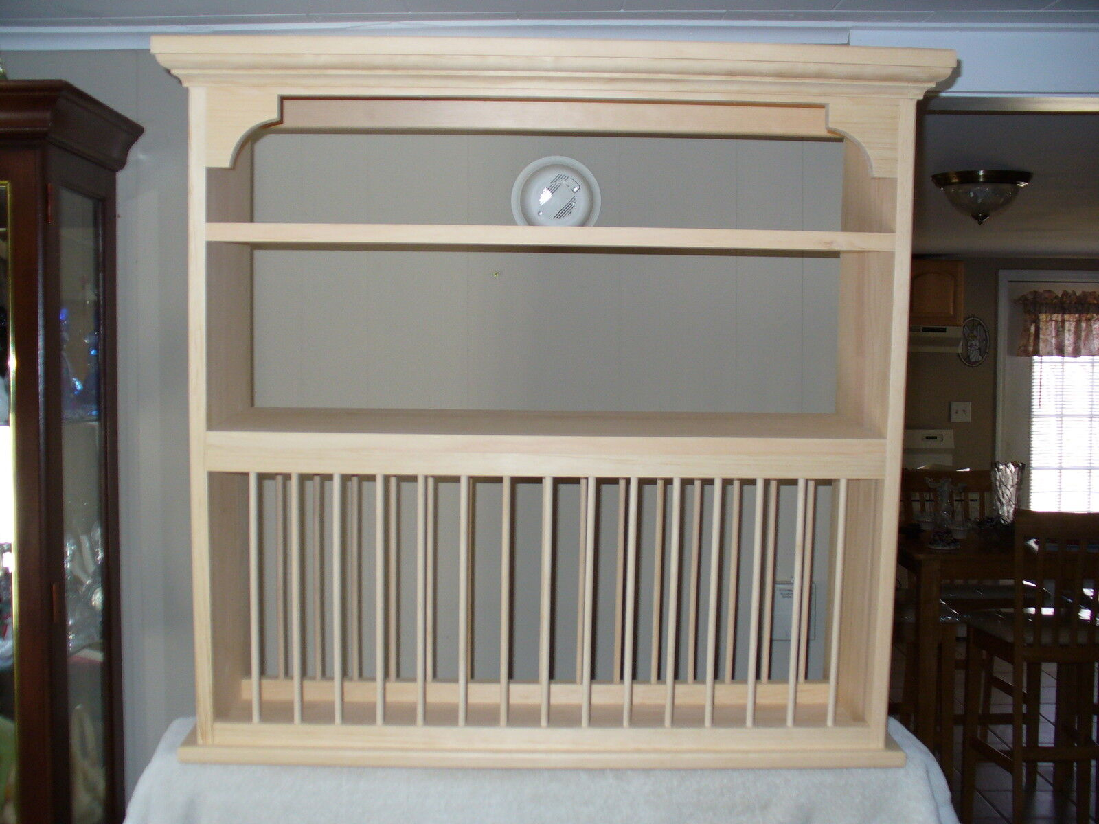Dish Rack For Kitchen Cabinet Organizer Crown Moulding Wood Cup Plate Dish Rack Art Shelf