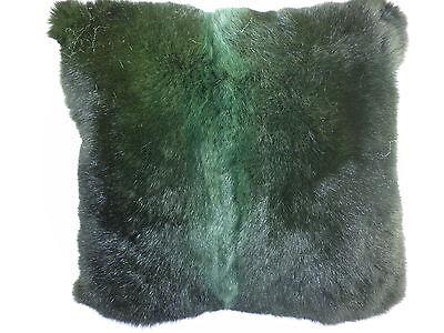 Real Genuine Green Zealand Opossum Fur Pillow Made In Usa Fur Cushion