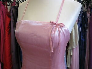 DEBUT-DEBENHAMS-PINK-BOW-ORGANZA-BRIDESMAID-BALL-GOWN-BALLGOWN-PROM-DRESS-6-8