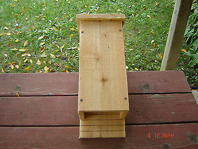3 Chamber Handcrafted Bat House, Box made from Cedar New Mosquito Control