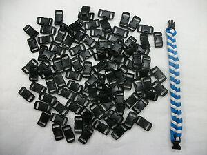 100-3-8-Buckles-Black-For-Paracord-Bracelets-Plastic-Clasp