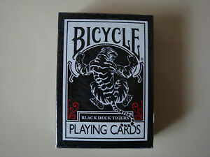 BICYCLE-BLACK-DECK-TIGER-RED-PLAYING-CARDS-MAGIC-CARD-TRICKS