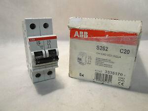 NEW-ABB-CIRCUIT-BREAKER-S262-C20-20-A-2-POLE