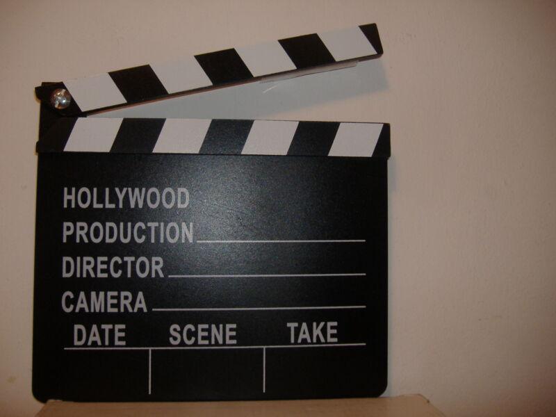 HOLLYWOOD MOVIE DIRECTORS CLAP BOARD