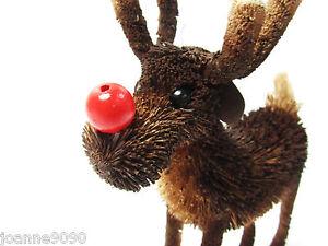 Gisela-Graham-Christmas-Gift-Tree-Decoration-Bristle-Rudolf-Reindeer-Ornament