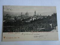 Firenze Panorama Visto Dal Regio Giardino Di Boboli Cartolina Viaggiata 3.9.1902 -  - ebay.it